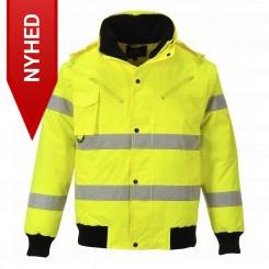 Portwest Hi Viz Pilotjakke m/aftageligt for - 3-i-1, gul