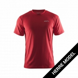 Craft Prime Tee, klassisk herre løbe t-shirt, rød