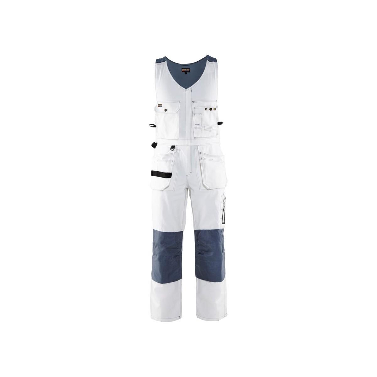 af5250ce5b7 Blåkläder, Helbukser m/hængelommer og stretch i ryg, 100% bomuld, hvid