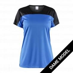 Craft dame T-shirt to-fravet i moderne design, blå/sort