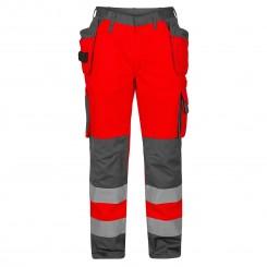 c6708c812b0 F. Engel Safety arbejdsbukser to farvet med hængelommer, klasse 2., rød/grå