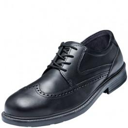 Business Atlas sikkerhedssko med værnesål og tå-kappe, sort læder