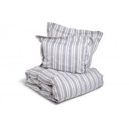Smart stribet 3 delt eksklusivt sengesæt i bomuld, navy