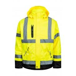 Lyngsøe regnjakke Hi-Vis i slidstærk kvalitet, gul/sort